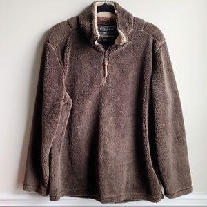 True Grit Faux fur super soft half zip jacket M